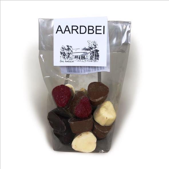 Aardbeien van chocolade