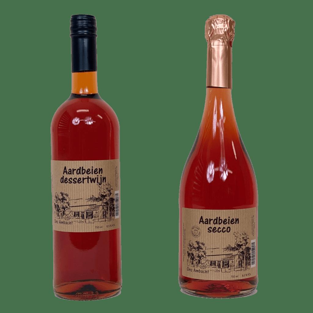 Aardbeien mousserende wijn